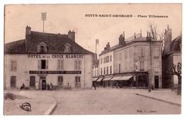0731 - Nuit-Saint6george ( Cd'O ) - Place Villeneuve ( Hotel De La Croix Blanche ) -C.Coron édit. - - Nuits Saint Georges