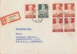 DR R-Brief Mif Minr.559,560,Zdr Minr.2x S227 Grenzach - Deutschland