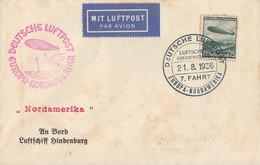 DR Zeppelinbrief EF Minr.607 SST Luftschiff Hindenburg 21.8.36 - Deutschland