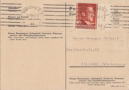 GG Karte EF Minr.76 SR Warschau 23.3.43 - Besetzungen 1938-45