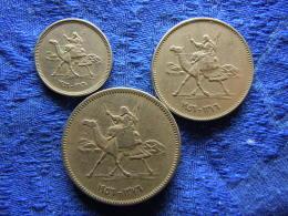 SUDAN 2, 5, 10 GHIRSH 1376/1956, KM33, 34.1, 35.1 - Sudan