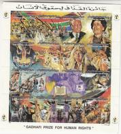 1994 Libya Khadafy Prize For Human Rights Mandela Palestine   Miniature Sheet Of 16 MNH - Libya