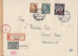 B&M R-Brief Luftpost Mif Minr.90,104,132 Prag 29.12.43 Gel. In Schweiz Zensur Ansehen !!!!!! - Böhmen Und Mähren