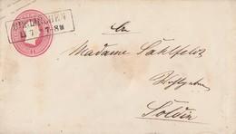 Preussen GS-Umschlag 1 Sgr. R2 Berlinchen Gel. Nach Soldin - Preussen