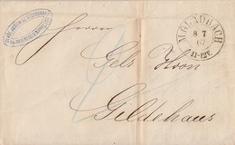 Preussen Brief K2 M.Gladbach 8.7.67 Gel. Nach Gildehaus - Preussen