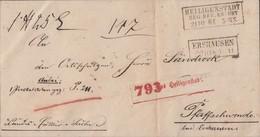 Preussen Paketbegleitbrief R3 Heiligenstadt Reg. Bez. Erfurt 21.10.64 Gel. Nach Pfaffschwende Bei Ershausen R2 - Preussen