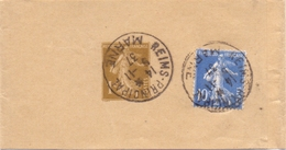 Bande De Journal Entier 1 C Semeuse Et 10 C - 1921-1960: Période Moderne