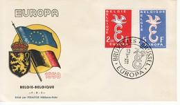 """1958 - """" BELGIO """" FDC EUROPA CEPT VEDI++++ - Europa-CEPT"""