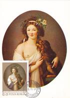 Carte-Maximum ROUMANIE  N° Yvert 2493 (Mme VIGEE - LEBRUN) Obl Sp 1er Jour 1969 - Maximum Cards & Covers
