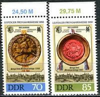 DDR - Mi 3316 / 3317 Oberrand - ** Postfrisch (K) - 70-85Pf        Leipziger Frühjahrsmesse 90 - Neufs