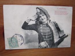 Je Suis La Brave Cantiniere......Edition Bergeret 1 Postmarked 1908. - Patriotiques