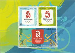 2008 Qatar Olympics Sheet Of 3 MNH - Qatar