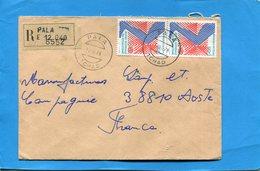 Marcophilie-TCHAD-lettreREC -cad PALA-1978--2- Stamps N°336 Année Mondiale Du Rhumatisme - Tsjaad (1960-...)
