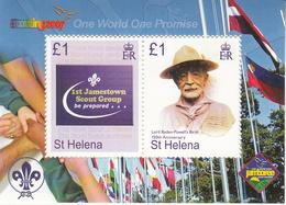 2007 St. Helena  Boy Scouts Scouting  Souvenir Sheet MNH - Saint Helena Island