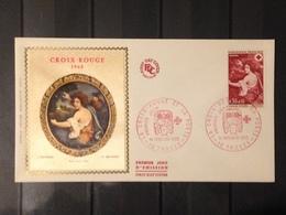 France - 1968 - 2 Enveloppes 1er Jour - Croix Rouge - France