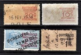 FRANCE  - LOT 4 TIMBRES FISCAUX QUITTANCES - Médaillon De Daussy - Fiscale Zegels