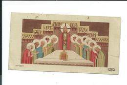 IMAGE PIEUSE..Communion Marcel DUNOYER, Eglise De LA BOUTEILLE (62) En 1948 - Santini