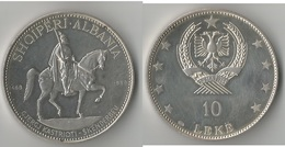 ALBANIE 10 LEIKE  1969 ARGENT RARE ! - Albania
