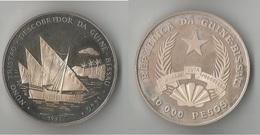 GUINEA - BISSAU 10000  PESOS 1991 ARGENT RARE ! - Guinea-Bissau