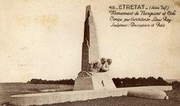 76 ETRETAT - Monument De NUNGESSER Et COLI - Théme Aviation, Aviateurs Célèbres - Etretat