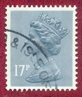 Great Britain GB 1971 - 1996 17p Blue Machin Used - Machin-Ausgaben
