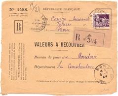 Devant De Lettre Valeur A Recouvrer Bone Constantine - Algérie (1924-1962)