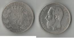 BELGIQUE  5   FRANCS 1869  ARGENT - 1865-1909: Leopold II