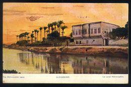 B10 - Egypt - Alexandria - The Mahmoudieh Canal - Used Alexandria To Brussels Belgium 1914 - Alexandria