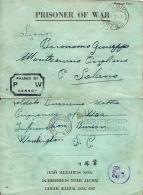 BIGLIETTO PRIGIONIERI UNITED STATES POW TRANSIT CAMP 1943 MONTECORVINO PUGLIANO - Military Mail (PM)