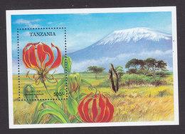 Tanzania, Scott #1049, Mint Never Hinged, Flowers, Issued 1993 - Tanzania (1964-...)