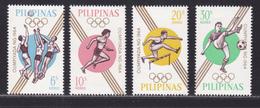 PHILIPPINES N°  605 à 608 ** MNH Neufs Sans Charnière, TB (D5902) Sports, Jeux Olympiques De Tokio - Philippines