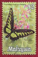 Malaysia 1970 $2 Butterflies SG69 Used - Malaysia (1964-...)