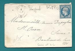 Seine Et Oise - Trappes Pour St Ouen. PC + CàD Type 15. Indice Pothion 6 - Postmark Collection (Covers)