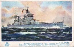 """A.F.D. Bannister  -  H.M.S. Howe,  Battleship""""King George V"""" Class   (WW2)   -   4902 - Guerra"""