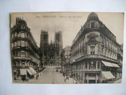 Bruxelles - Eglise Et Rue Ste Gudule - Monuments, édifices