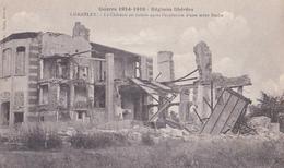 CHAMBLEY 54 ( LE CHATEAU EN RUINES )  OBLITERATION MARQUE POSTALE MILITAIRE PRISONNIERS DE GUERRE 1919 - Chambley Bussieres