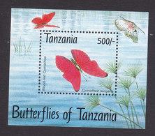 Tanzania, Scott #1055, Mint Never Hinged, Butterflies, Issued 1993 - Tanzanie (1964-...)