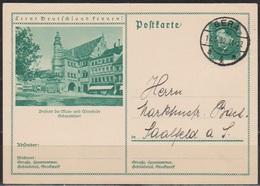 DR Ganzsache1932 MiNr.P 202 /049 Schweinfurt Gelaufen  Stempel Gera17.5.32 ( D 5939 )günstige Versandkosten - Ganzsachen
