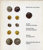 Gallerie Des Monnaies Sa Geneve - Spink E Son Ltd London Auction Vante Aux Encheres - Catalogo D'asta - Octobre 1977 - Libri & Software
