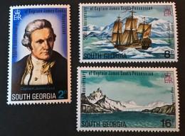South Georgia  -  MH* -  1975  - # 41/43 - South Georgia