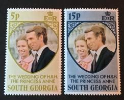 South Georgia  -  MH* -  1973  - # 37/38 - South Georgia