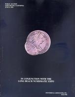 In Conjunction With The Long Beach Numismatic Expo - Ponterio E Associates Inc Sale 54 - Public Auction Long Beach Chica - Libri & Software
