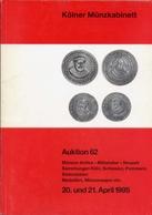 Kolner Munzkabinett - Auktion 62 - Muzen Antike - Mittelalter - Neuzeit Sammlungen Koln - Schlesien - Pommern - Sudostas - Livres & Logiciels