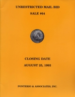 Unrestricted Mail Bid Sale 64 - Pnterio E Associates Inc - Aust 25 - 1993 - Libri & Software