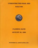 Unrestricted Mail Bid Sale 64 - Pnterio E Associates Inc - Aust 25 - 1993 - Books & Software