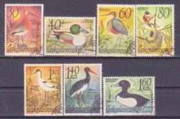 66-606 / CZ - 1967  WATER  BIRDS     Mi 1681/87 O - Tschechoslowakei/CSSR