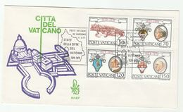 1979 VATICAN FDC Stamps Popes Emblems  Winged Lion Bird Stamps Cover Pope - FDC