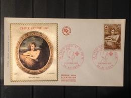 France - 1969 - 2 Enveloppes 1er Jour - Croix Rouge - France