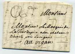 MP D'UZES  Manuscrit Lenain N°1 / 1776 / Dept Du Gard - Marcophilie (Lettres)