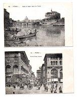 "ITALIE . ROMA . "" CASTEL S. ANGELO VEDUTO DAL TEVERE "" & "" VIA DEL CORSO UMBERTO "" . 2 CARTES POSTALES - Réf. N°8408 - - Roma (Rome)"